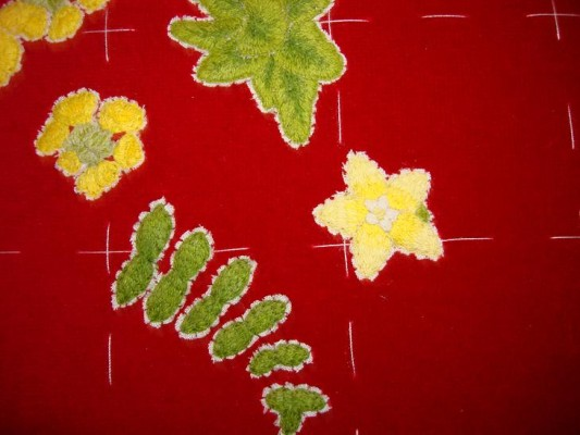 Ruth O'Leary Textile Art - big embroidered pearlwort
